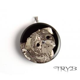 Handmade pug pendant