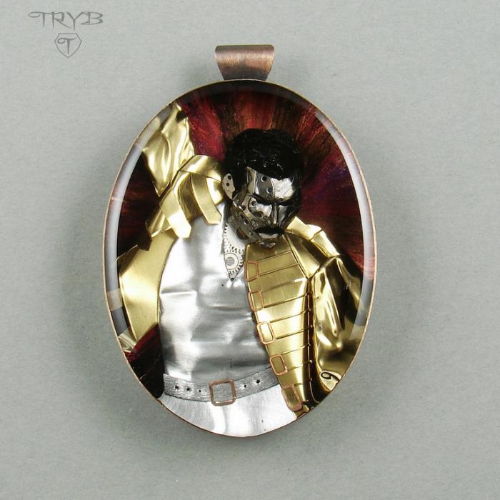 Ręcznie robiony wisior Freddie Mercury