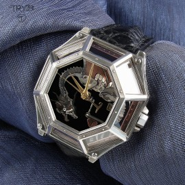 unique men's wristwatch with dragon