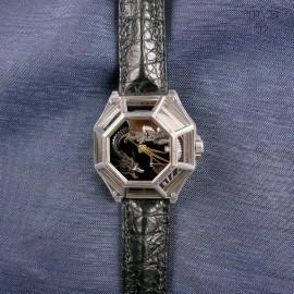 Ręcznie wykonany unikatowy zegarek ze smokiem. Nietypowy zegarek naręczny.