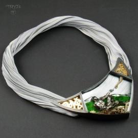 Artystyczny naszyjnik ze srebra