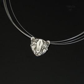Srebrny naszyjnik gepard