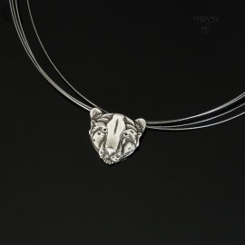 Wild cat necklace of silver