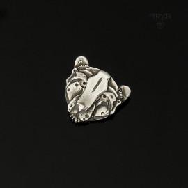 Mechaniczna Zawieszka Głowa Geparda ze srebra