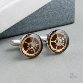 Marina Bordeaux cufflinks