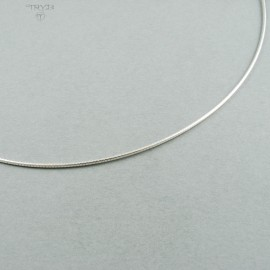 Sterling silver stiff snake chain
