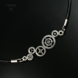 Gear Me Up - sterling silver gears necklace