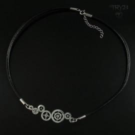 Gear Me Up - rockowy naszyjnik ze srebra w kształcie trybików