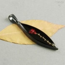 Handmade rose pendant