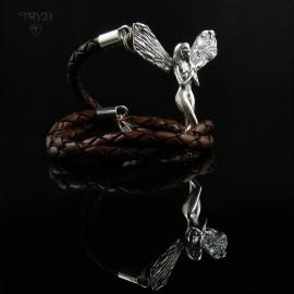 Men's bracelet with silver...