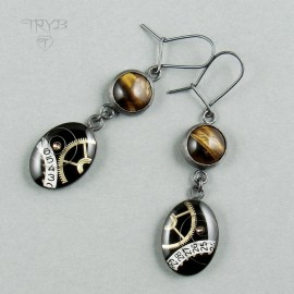 Steampunk earrings with...