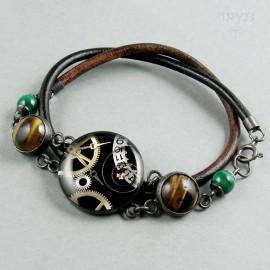Steampunk bracelet with...