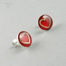 Hearts ear studs