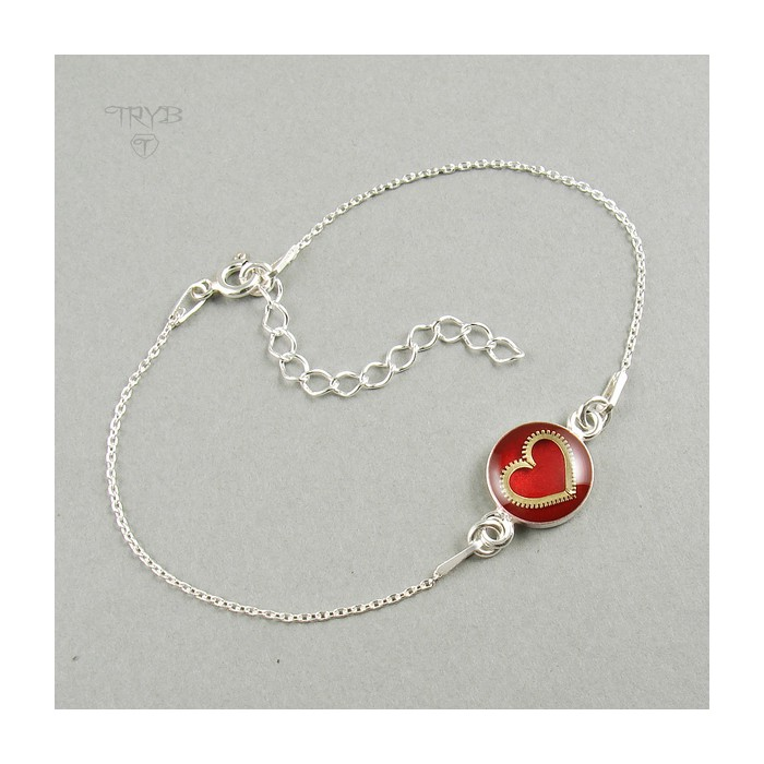 Sterling silver bracelet with heart