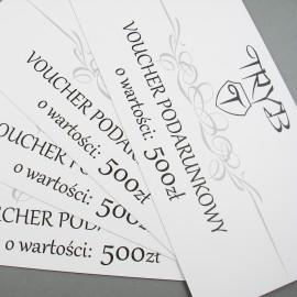 Voucher podarunkowy na biżuterię artystyczną o wartości 500 zł