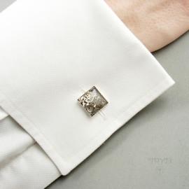 Biżuteria męska ze srebra i części zegarków