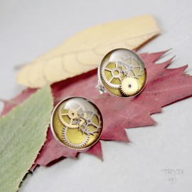 Silver steampunk earrings...
