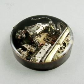 Cat steampunk sculpture of watch parts