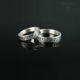 Steampunk wedding rings -...