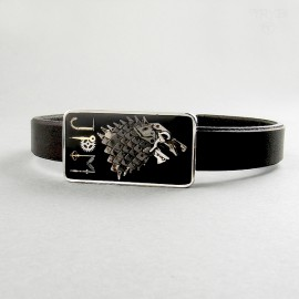 Direwolf and initials bracelet for him