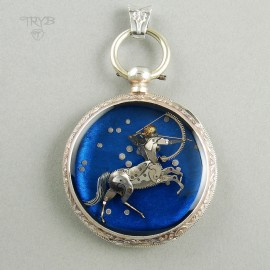 Zodiacal Sagittarius pendant with his constellation