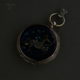 Zodiacal Sagittarius pendant with his constellation