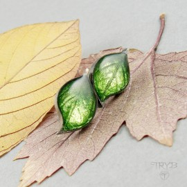 Small leaves earrings of sterling silver