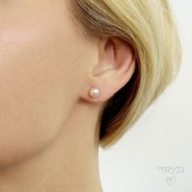 Srebrne sztyfty perły hodowlane