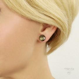 Steampunk ear studs