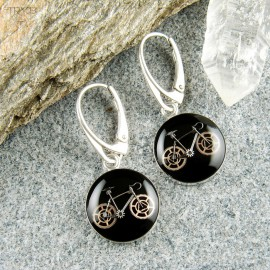 Road bikes earrings
