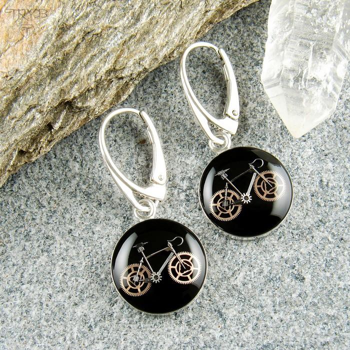Road bikes earrings