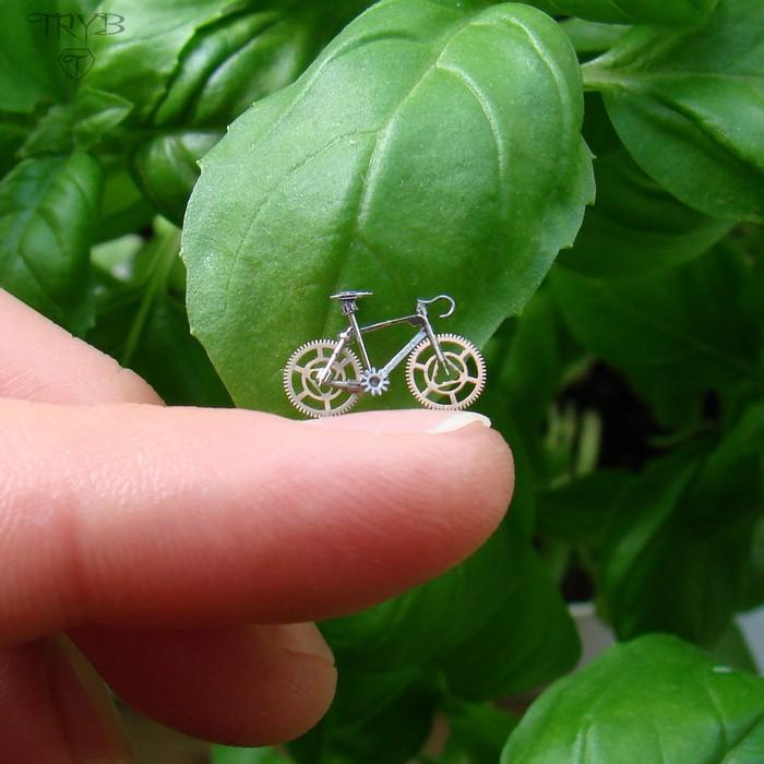 Miniaturowy rower szosowy - kolczyki