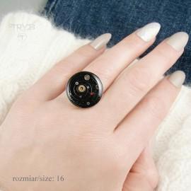Duży pierścionek srebrny