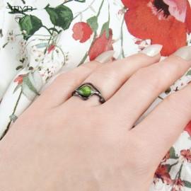 Srebrny pierścionek ręcznie robiony