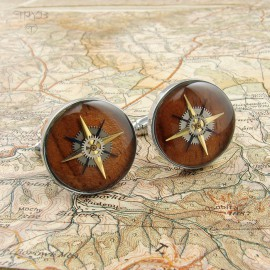 Elegant cufflinks roses of winds