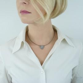 Krótki naszyjnik srebrny