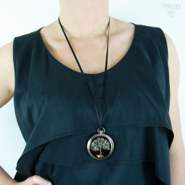 Long, hand made necklace