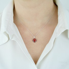 Red celebrity necklace
