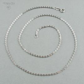 Rodowany srebrny łańcuszek 45 cm