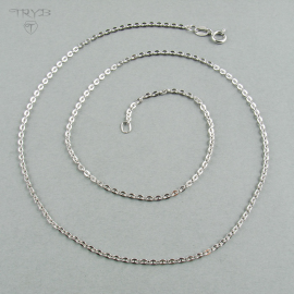 Solid sterling silver chain rhodium plated