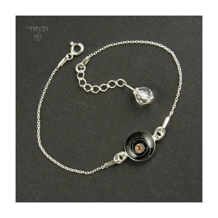 """Kosmiczna"" srebrna bransoletka z motywem astronomicznym"