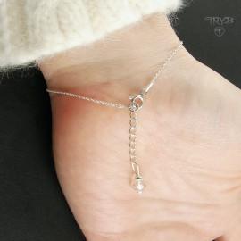 bransoletka z kryształem górskim