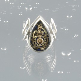 Oryginalny Srebrny Pierścionek Meteoros Alfa