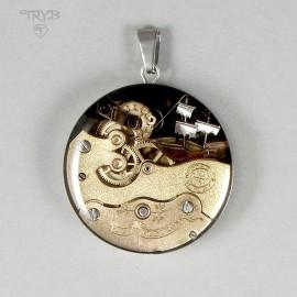 """What a beautiful catastrophe"" unique artistic pendant"