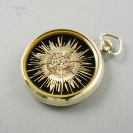 Unikatowy wisior Słońce z części zegarków