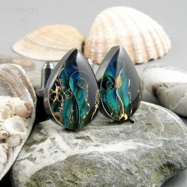 Captain Nemo cufflinks drops sea inspired
