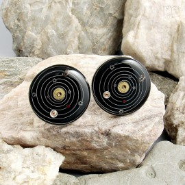 Solar System cufflinks sterling silver and watch parts