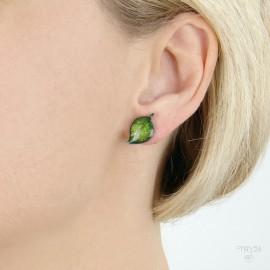 Stud earrings leaves