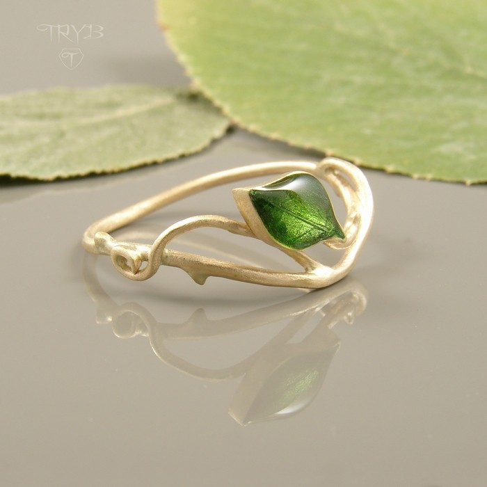Natural style gold ring