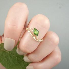 Ręcznie robiony pierścionek zaręczynowy